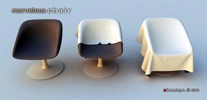 chair 3 single 3d model skp 1