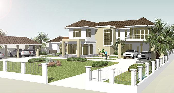 Amazing BIG House 3D Model