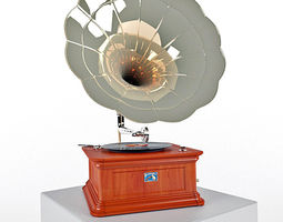Old phonograph 3D model