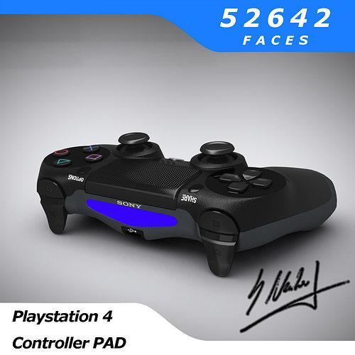 ps4 controller - sony entertainment 3d model obj mtl fbx blend dae 1