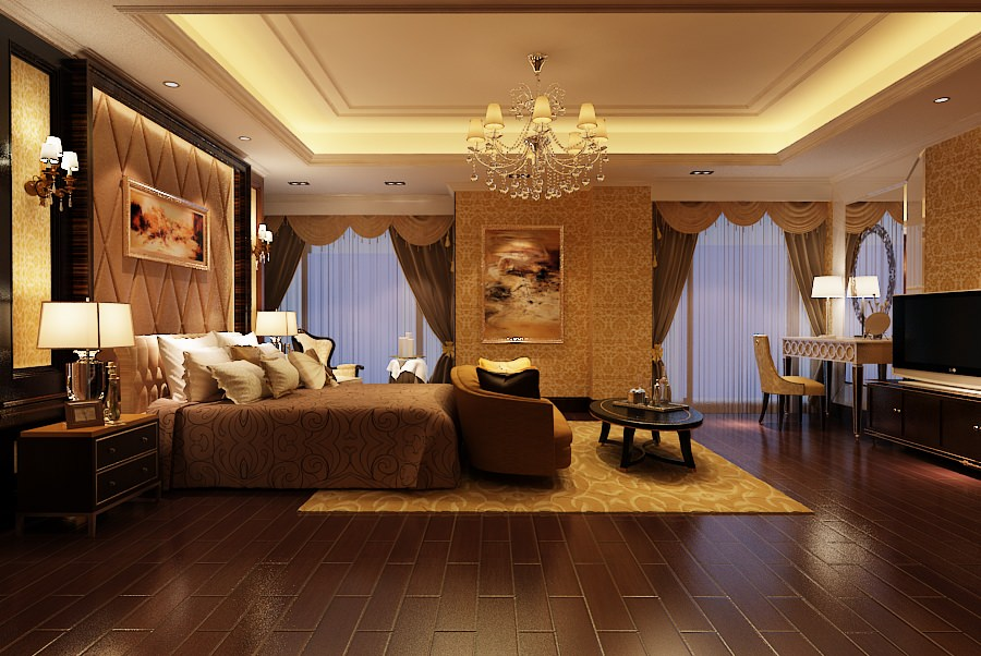 elegant master bedroom b2 c12 3d model max