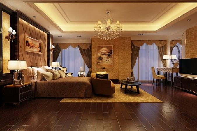 Elegant Master Bedroom B2-c12 3D Model MAX