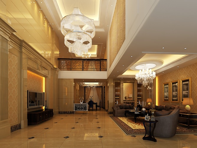 living room b2-c21 3d model max 1