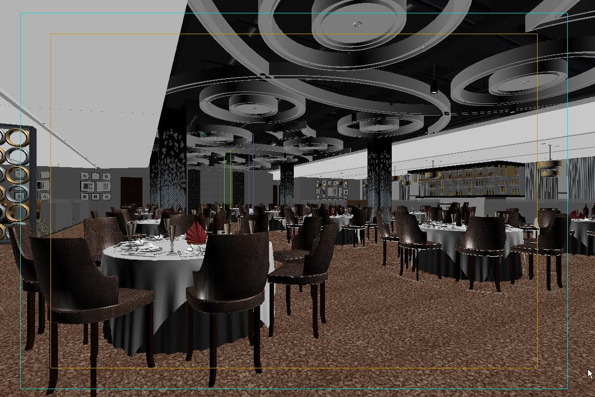 Restaurant interior scene d model max cgtrader