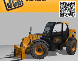 Telescopic Handler Forklift JCB 535 95 3D Model