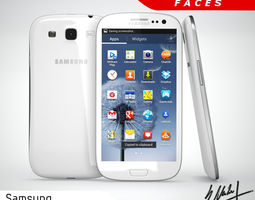 samsung galaxy s3 smartphone  3d model