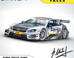 Mercedes Benz AMG C63 DTM  - Racedriver Maximilian Goetz 3D Model