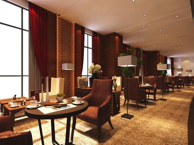 Restaurant interior b d model max cgtrader
