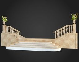 Staircase 3D model architecture