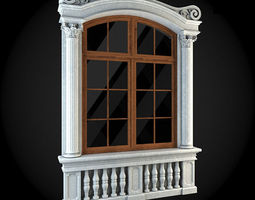 Window 3D model render