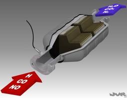 Car Exhaust Catalytic Converter 3D Model