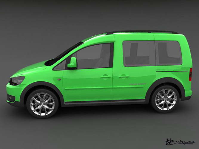 volkswagen cross caddy 2013 3d models. Black Bedroom Furniture Sets. Home Design Ideas