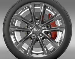 Infiniti Q70 Hybrid wheel 2015 3D Model