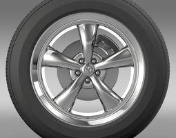 Mopar Dodge Challenger wheel 3D Model