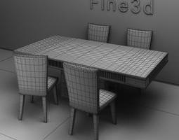 Dining table and chairs 09-049-0706 3D Model