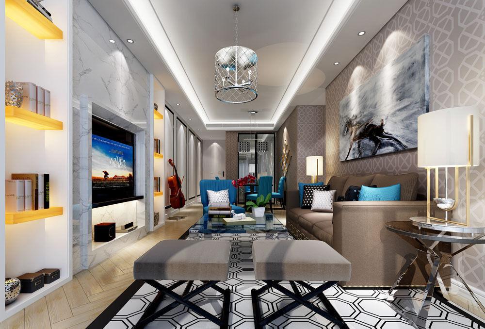 Realistic Living Room Design 004 3d Model Max