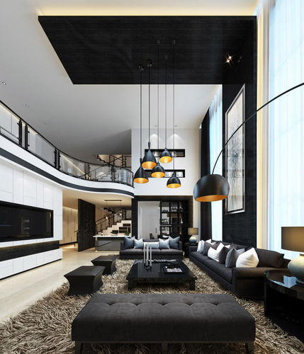 3d realistic living room design cgtrader for Realistic living room ideas