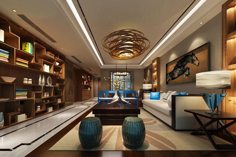 Realistic Living Room Design 024 3d Model Max