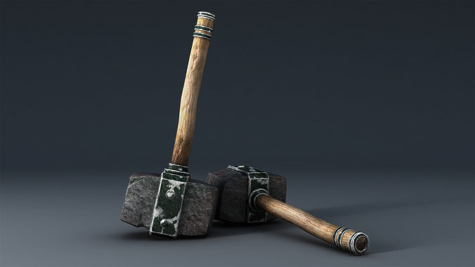 hammer 3d model low-poly obj fbx ma mb mtl tga 1