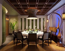 Dining Room Photoreal 3D