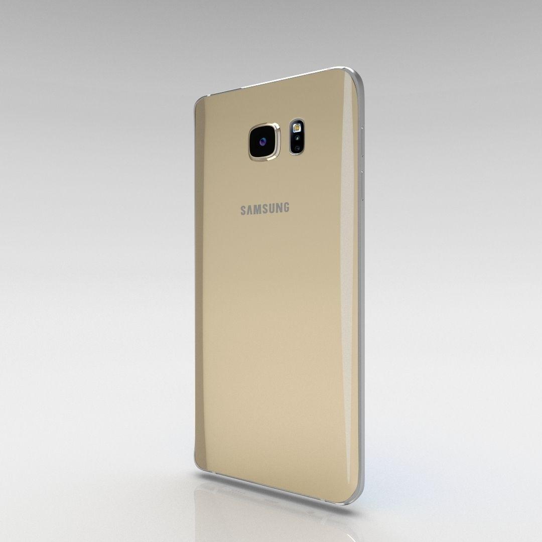 Samsung Galaxy Note 5 Gold Platinum 3D Model OBJ FBX STL ...