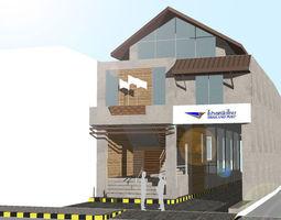 Provincial Post Office 3D model exterior