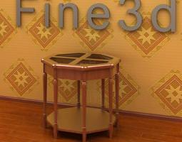 Antique Table 09-020b 3D Model