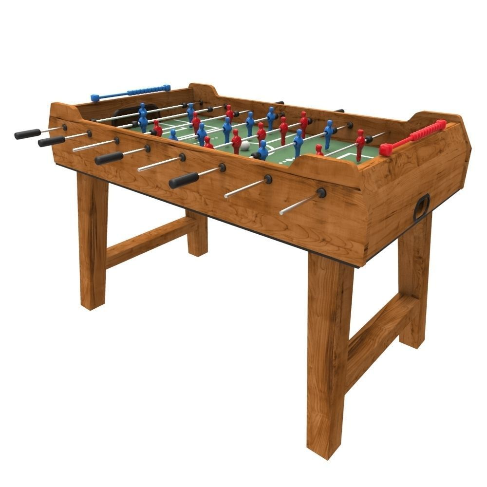 Foosball Table 3d Model Fbx Ma Mb 1 ...