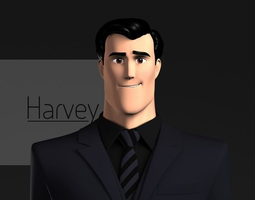 Harvey Stylized Male Character 3D model
