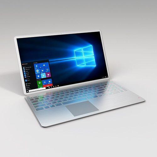 metallic laptop 3d model max 1