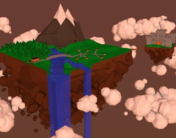 3D model Low Poly Mountain