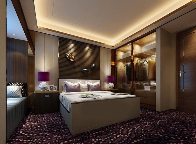 Realistic hotel room design 014 3d cgtrader for New hotel room design