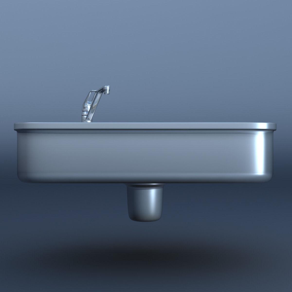 Kitchen Sink Model: Kitchen Sink 3D Model .max .obj .fbx .c4d .lwo .lw .lws