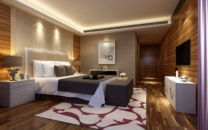 3d realistic hotel room design 051 cgtrader for 3d model room design