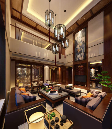 Realistic living room design 036 3d model max for Living room designs 3d model