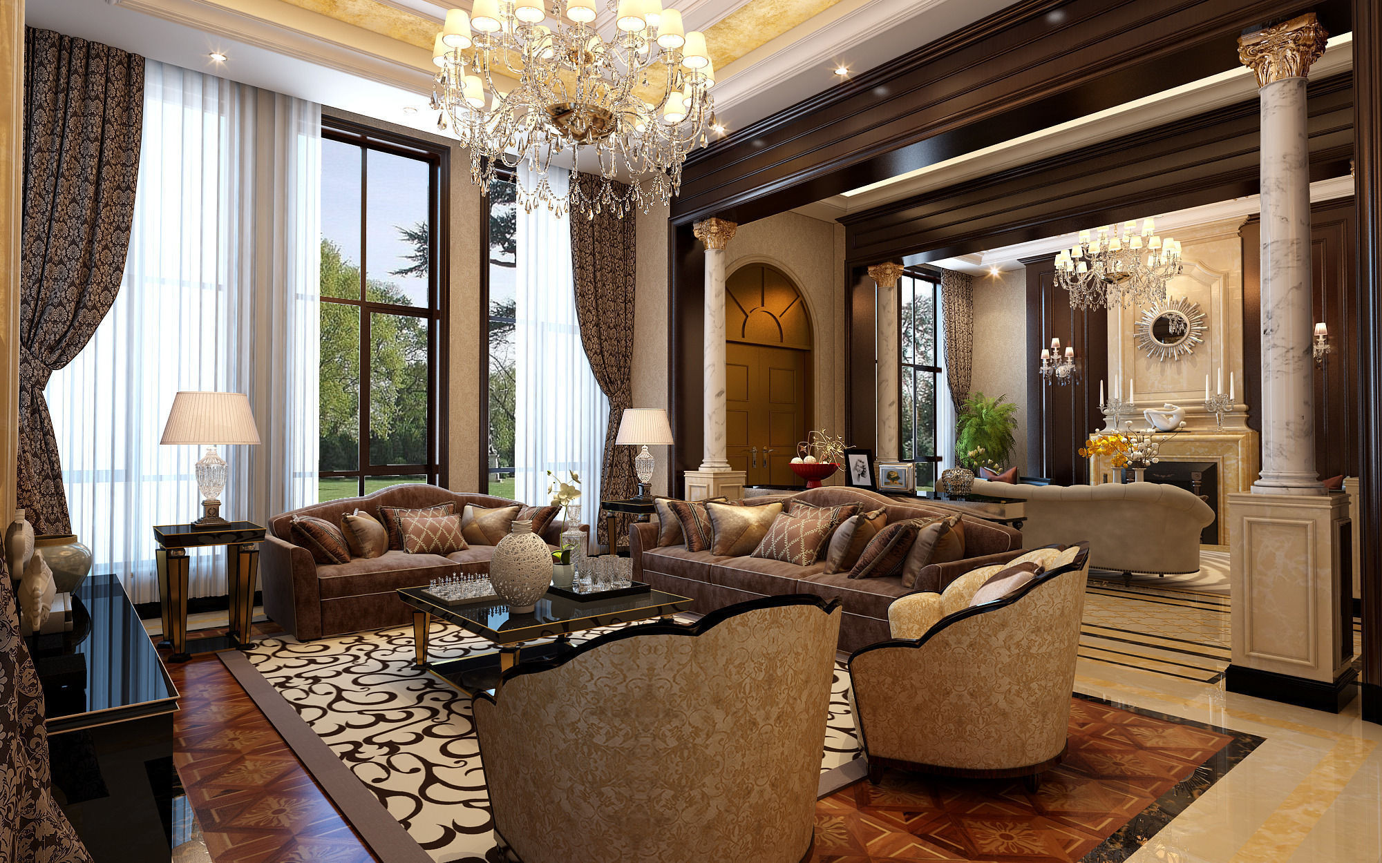 Model Living Room 3D Model Architectural Realistic Living Room Design