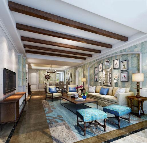 Realistic living room design 021 3d model max for Realistic living room ideas
