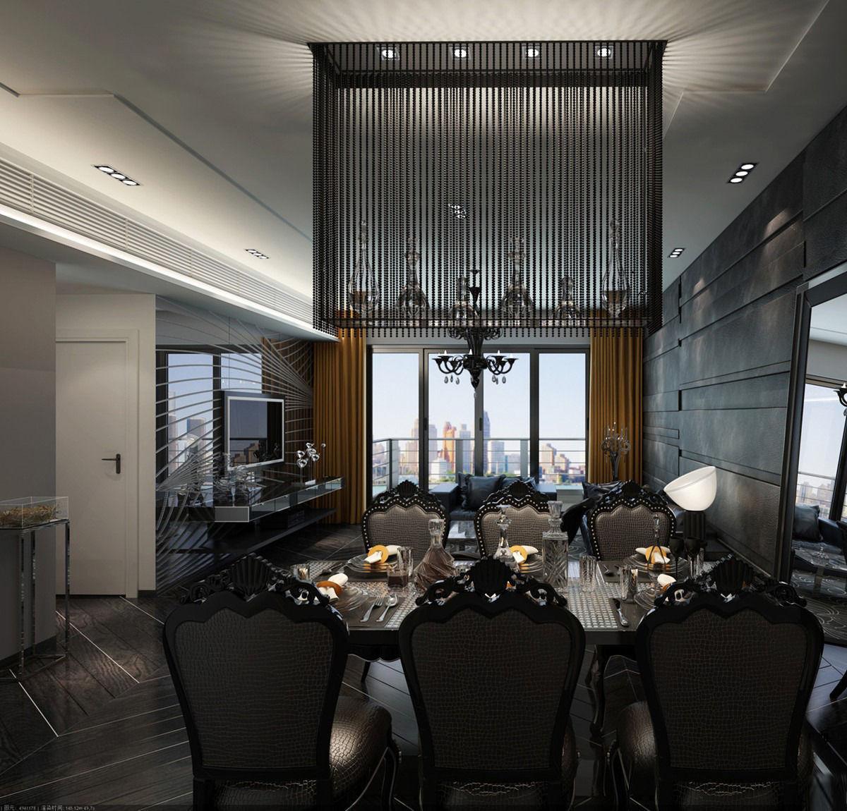 Realistic Dining Room Design 038 3d Model Max
