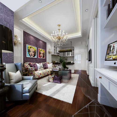 Realistic Living Room Design 0193D model