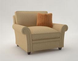 Pro - Armchair Baker Club Chair BB 3D