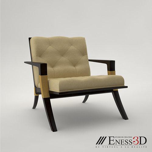 pro - baker athens lounge armchair 3d model max obj mtl fbx 1