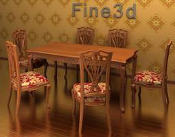 Antique Table 09-090 3D Model