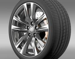 Nissan Fuga Hybrid wheel 2015 3D Model