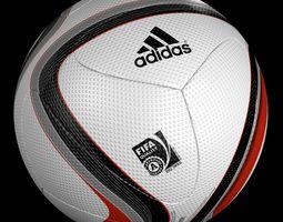 official adidas euro 2016 qualifier ball 3d model obj blend mtl