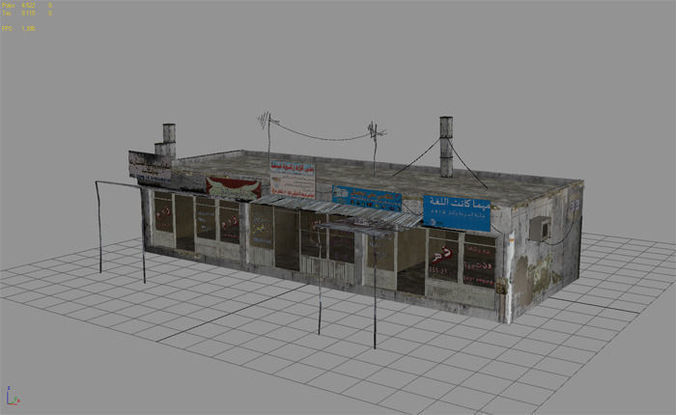 Arab City Building Building C 3d Model Game Ready