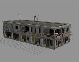 arab city building - building d 3d asset