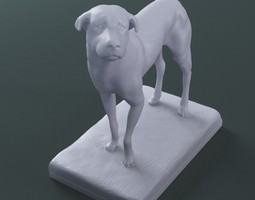 3d printable Sculpture The Lost Dog stl collada dae 3D Model
