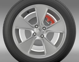 Renault Logan2 wheel 3D Model