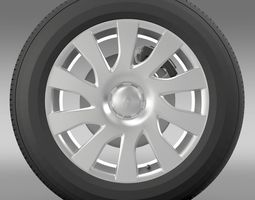Renault Trafic Van wheel 2015 3D Model