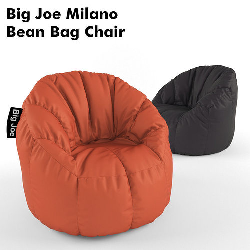 Big joe milano bean bag chair 3d model max fbx cgtrader com